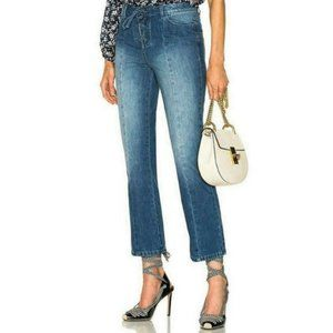 Ulla Johnson | Alex Lace Up Flare Cropped Jeans